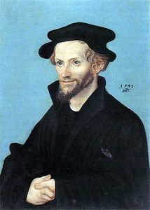 Lucas Cranach The Elder - Portrait de Philipp Melanchthon