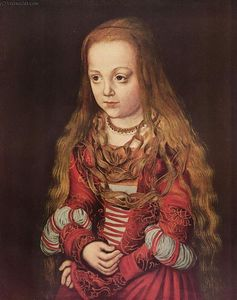 Lucas Cranach The Elder - portrait d-un `saxon` princesse