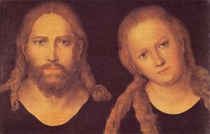 Lucas Cranach The Elder - jésus christ et marie