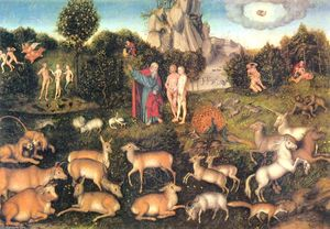 Lucas Cranach The Elder - Paradis