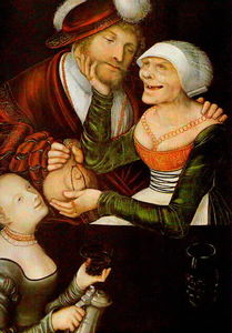 Lucas Cranach The Elder - L entremetteuse