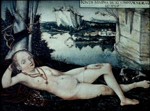 Lucas Cranach The Elder - Eau Nymphe de repos