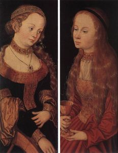 Lucas Cranach The Elder - r . Catherine et r . Barbara