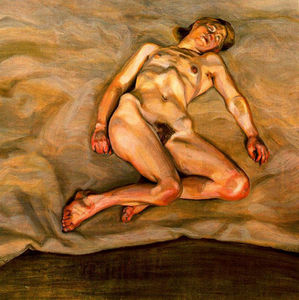 Lucian Freud - Fille nue Asleep I