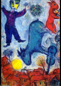 Marc Chagall - Vaches plus de Vitebsk