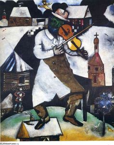 Marc Chagall - Le Fiddler