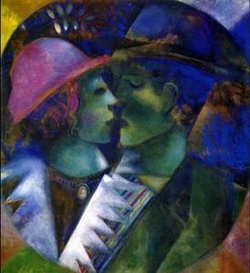 Marc Chagall - vert amoureux