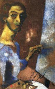 Autoportrait huile sur toile de marc chagall 1887 1985 for Biographie de marc chagall