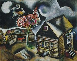 Marc Chagall - pluie