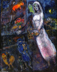 Marc Chagall - Newlyweds et Violoniste