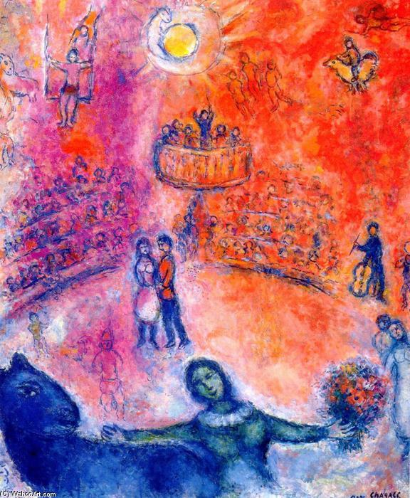 Cirque huile sur toile de marc chagall 1887 1985 belarus for Chagall tableau