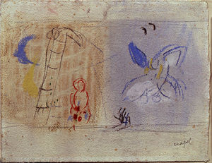 Marc Chagall - 'Study afin ''The Jacob's Dream'''