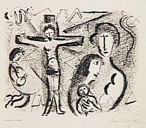 Marc Chagall - jésus christ famille