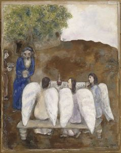 Marc Chagall - Trois anges visitent Abraham