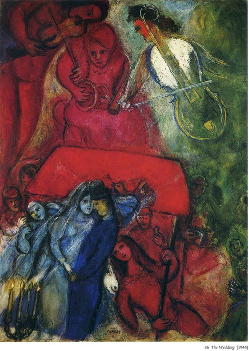 Le mariage huile sur toile de marc chagall 1887 1985 for Chagall tableau
