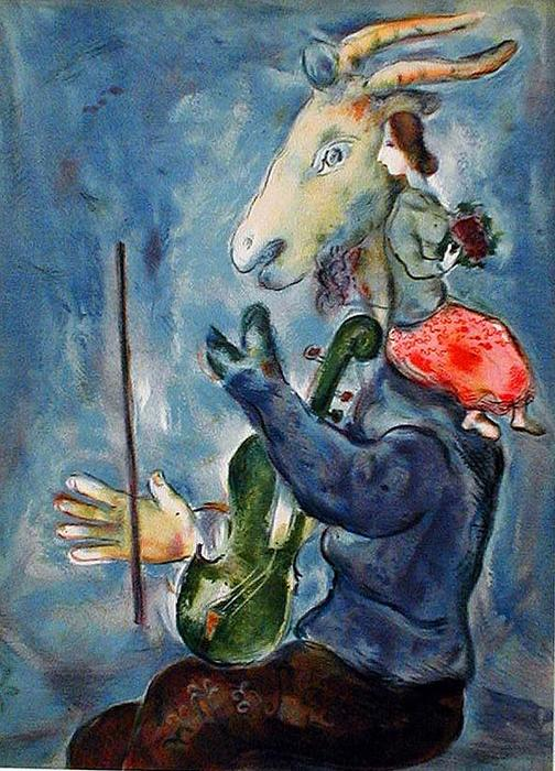 printani re lithographie de marc chagall 1887 1985 belarus. Black Bedroom Furniture Sets. Home Design Ideas