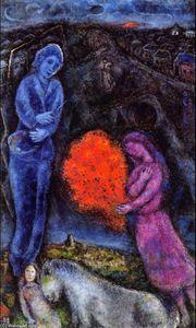 Soleil sur saint paul de vence lithographie de marc for Chagall st paul de vence