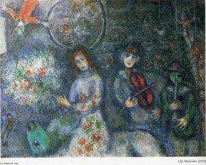 Marc Chagall - musiciens