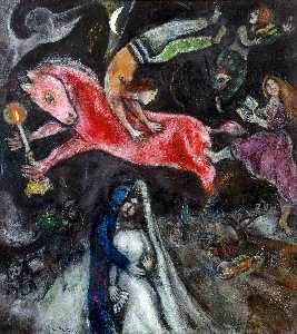 Marc Chagall - a rouge cheval