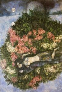 Marc Chagall - Lovers dans les lilas