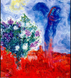 Marc Chagall - Amants plus sant paul