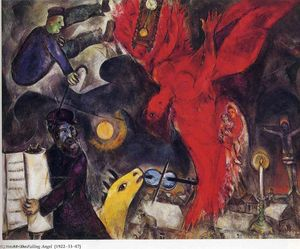 Marc Chagall - l-ange qui tombe
