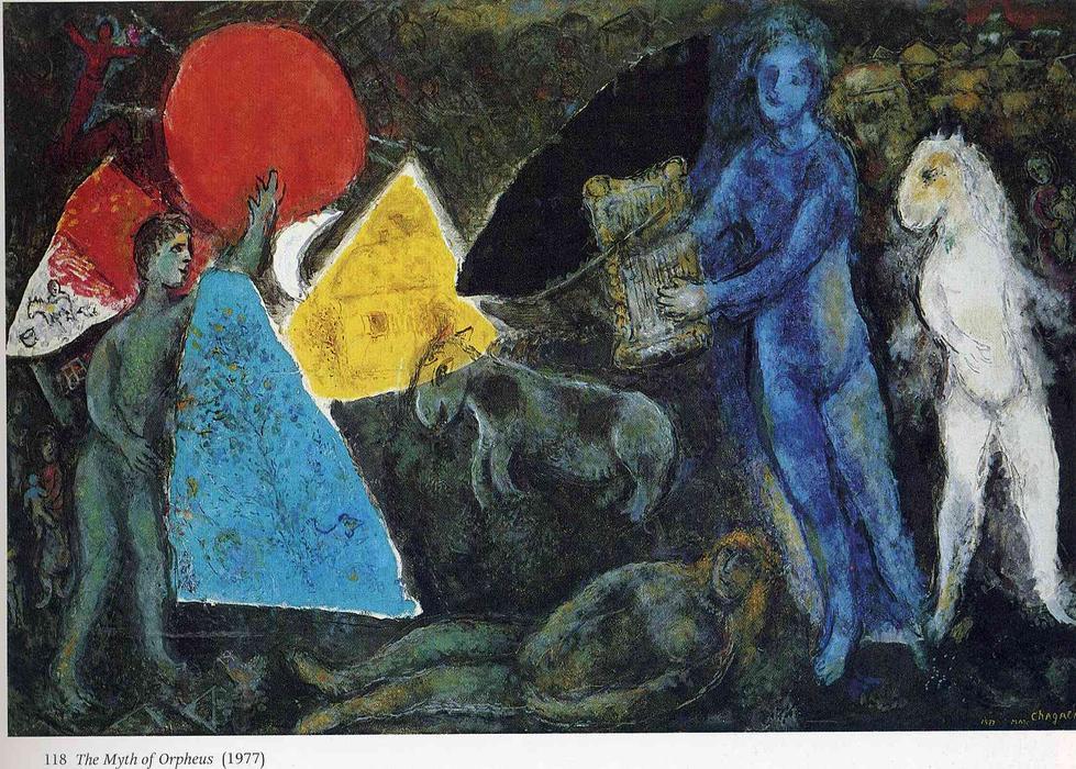 Le mythe d Orphée, 1977 de Marc Chagall (1887-1985, Belarus)     WahooArt.com