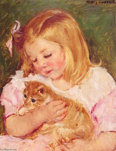 Mary Stevenson Cassatt - `sara` la tenue a cat