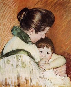 Mary Stevenson Cassatt - Sleepy Thomas sucer son pouce