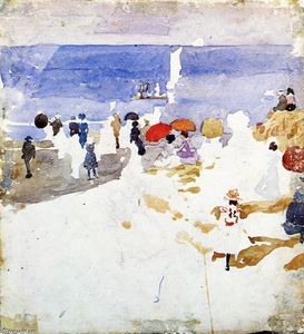 Maurice Brazil Prendergast - figures croquis sur Beach ( aussi connu as Early Beach )