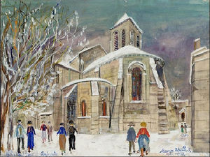 Maurice Utrillo - Church of r . Peter sur monmartre