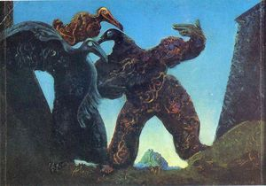 Max Ernst - Barbares Marching à l Ouest