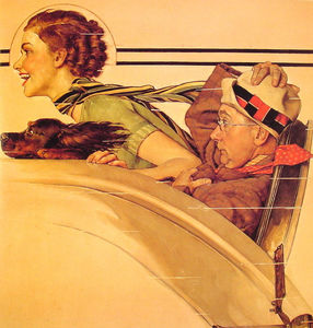 Norman Rockwell - Couple dans Rumble Seat