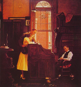Norman Rockwell - Mariage Licence