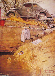 Norman Rockwell - The Hole piscine