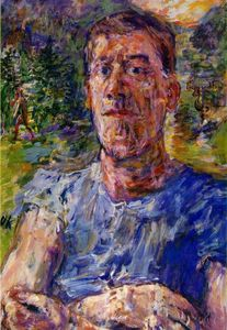 Oskar Kokoschka - Self-portrait d'un 'Degenerate Artist' - (copie de tableau)