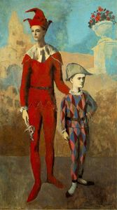 Pablo Picasso - Acrobat et Young Harlequin