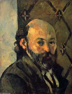 Paul Cezanne - Self-portrait dans front of olive fond décran