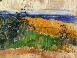 Paul Gauguin - Vue of le beach à bellangenai