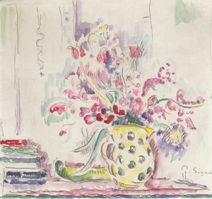 Paul Signac - floral nature morte