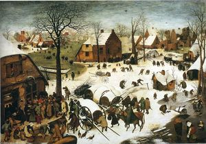 Pieter Bruegel The Elder - Recensement à Bethlehem