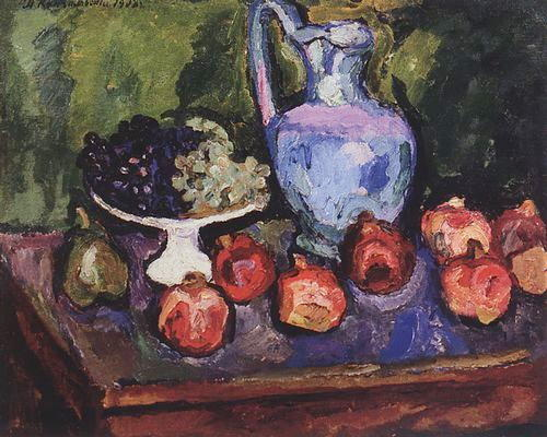 Nature Morte les fruits, 1908 de Pyotr Konchalovsky (1876-1956, Russia) | Copie Tableau | WahooArt.com