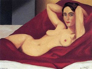 Rene Magritte - nu couché