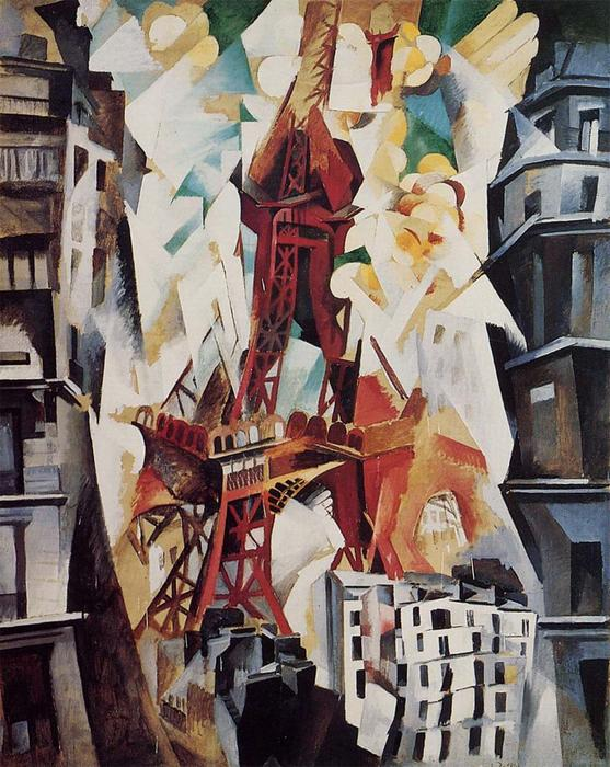 tour eiffel, 1914 de Robert Delaunay (1885-1941, France)
