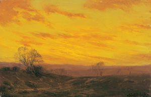 Robert Julian Onderdonk - Soirée d or, Southwest Texas