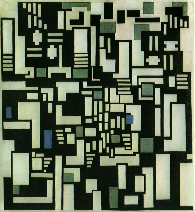 Composition IX, opus 18, 1917, 1917 de Theo Van Doesburg (1883-1931, Netherlands) | Reproductions D'art Sur Toile | WahooArt.com