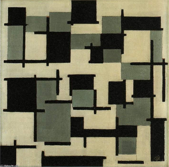 La composition XIII, huile de Theo Van Doesburg (1883-1931, Netherlands)