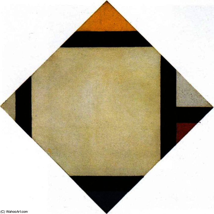 composition Counter VII, huile sur toile de Theo Van Doesburg (1883-1931, Netherlands)