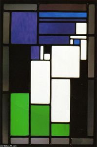 Theo Van Doesburg - Composition de verre Stained Femme