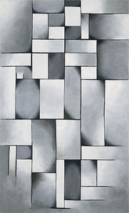 Theo Van Doesburg - Composition gris chiffon fois